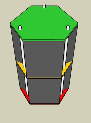 3D-Zeichnung Legoturm Google Sketchup
