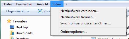 Extras - Optionen