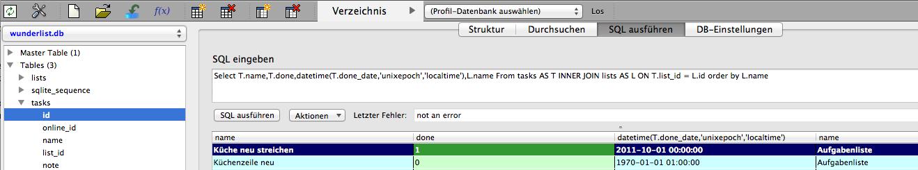 SQLite Wunderlist.db