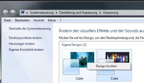 Windows Design löschen